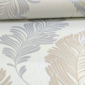 A.S. criação como criação Fern folha padrão papel de parede glitter motivo gravado texturizado vinil 305091