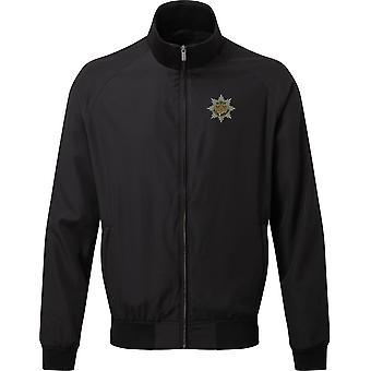Royal Anglian regiment-licenseret britisk hær broderet Harrington jakke