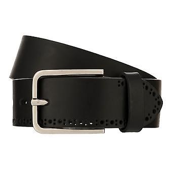 bugatti Belt Men's Belt Leather Belt Black 8086