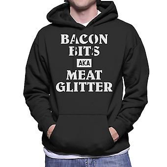 Carnivore Bacon Bits Aka Meat Glitter Men's Hooded Sweatshirt