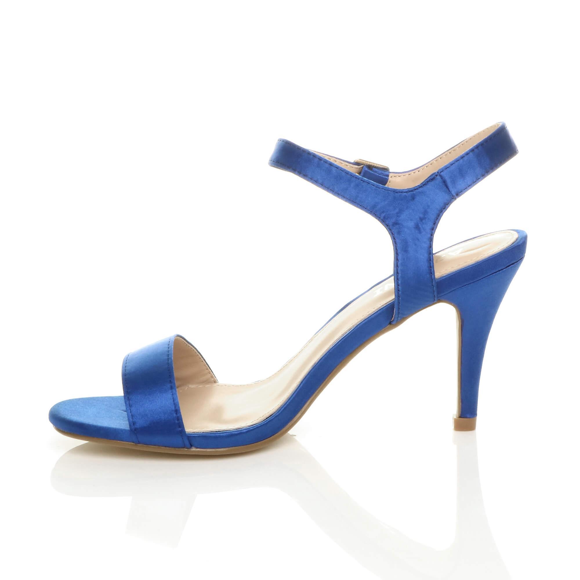 Womens Ajvani milieu faible strappy à peine il fête de mariage bal sandales Chaussures à talons hauts