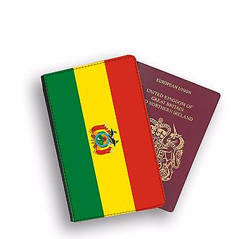 BOLIVIA Flag Passport Holder Style Case Cover Protective Wallet Flags design