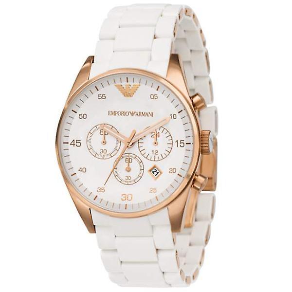 Armani Ar5919 - White Sportivo Chronograph Mens Watch