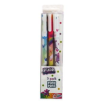 Pixie Pony and Friends Slim Barrel Ballpoint Pens, 3 Pack