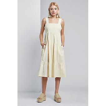 Louche Paz Tiered Cami Midi Dress White