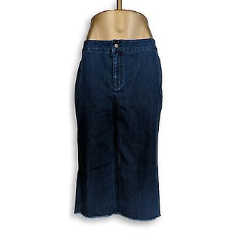 Joan Rivers Classics Kollektion Frauen's Petite Jeans Gauchos Blau A309711