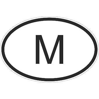 Autocollant Sticker Drapeau Oval Code Pays Voiture Moto Malte Maltais M