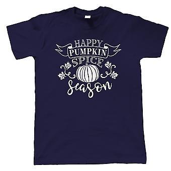 Feliz Temporada de Especiarias de Abóbora, camiseta masculina - Outono de Outono presente seu pai