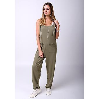 Mabel Trikot Jumpsuit in khaki