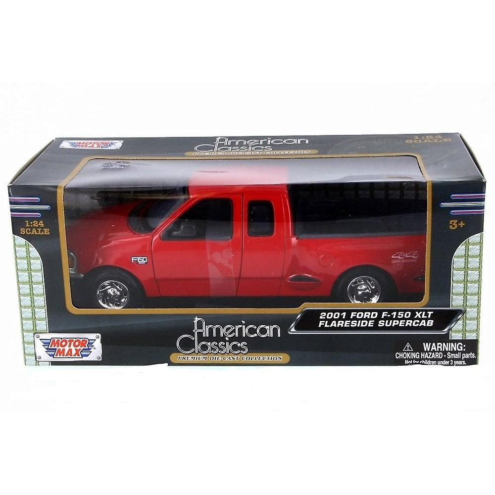 MotorMax American Classics - 2001 Ford F-150 XLT Flareside Supercab Red  1:24