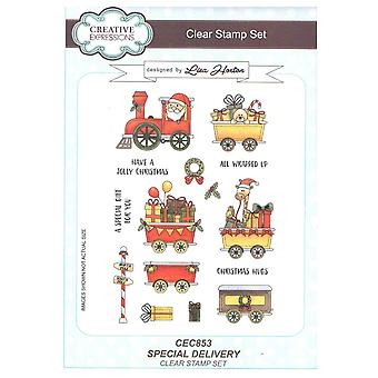 Creative Expressions Clear Stamp Set by Lisa Horton - Special Delivery