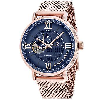Christian Van Sant Men's Somptueuse LTD Blaue Zifferblatt Uhr - CV1147