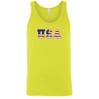 USA flagg tank topp USA Pride menn ' s