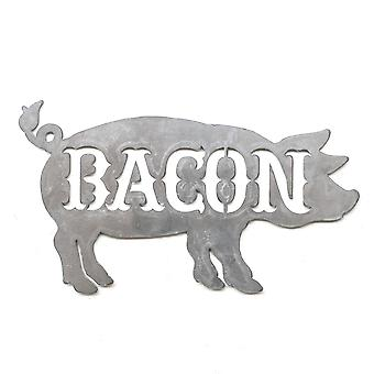 Bacon pig - metal cut sign 18x10in