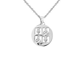 Celtic Holy Trinity Knot And Thistle The Flower Of Scotland In A Window Necklace Pendant - Includes A 16