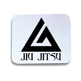 White mouse pad pad wtc1292 jiu jitsu