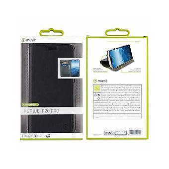 Caso para Huawei P20 Pro suporte de cartão preto