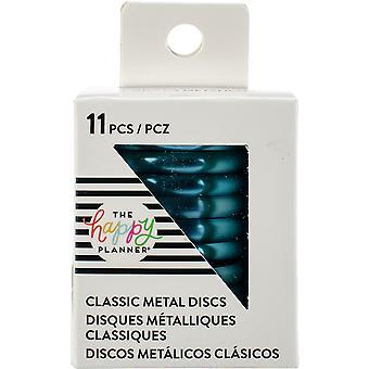 Happy Planner Medium Metal Expander Discs 11/Pkg-Teal