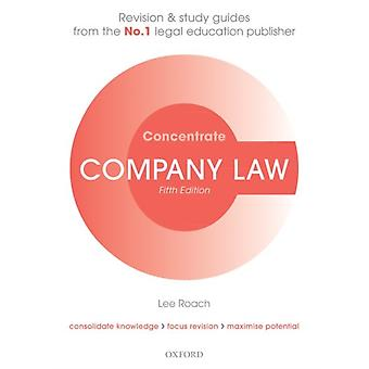 Company Law Concentrate by Lee Roach