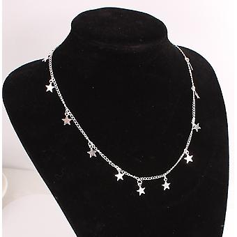 Multi five-pointed star necklace
