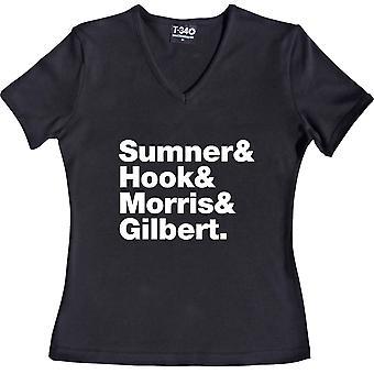 New Order Line-Up V-Neck Black Women's T-Shirt