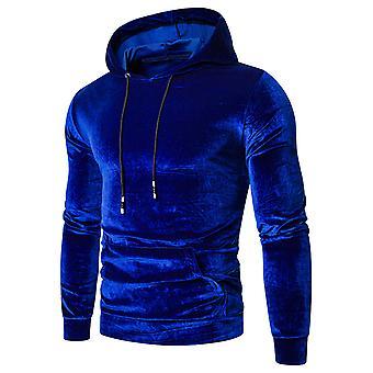 Allthemen Men's Casual Elegante Con cappuccio solido Fleece a maniche lunghe Top Sweatshirt