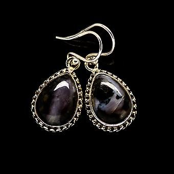 "Gabbro Earrings 1 1/4"" (925 Sterling Silver)  - Handmade Boho Vintage Jewelry EARR394123"