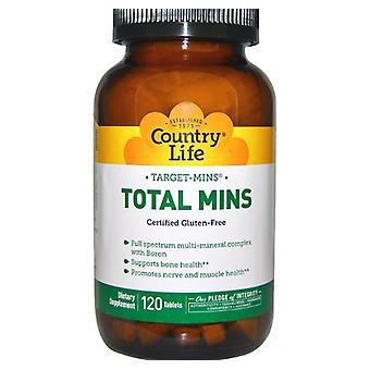 Sem glúten Target-mins Total mins (120 comprimidos) - Vida no campo