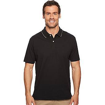 Dockers Men's Short Sleeve Performance Polo, Black, 2X-Large