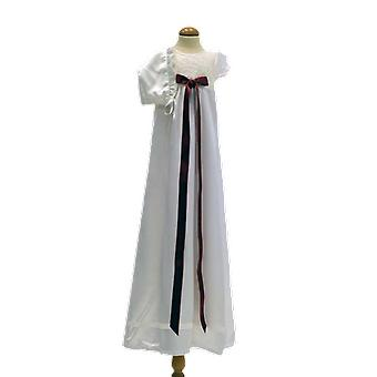 Dopklänning Och Dophätta I Off White, Vinröd Rosett, Grace Of Sweden