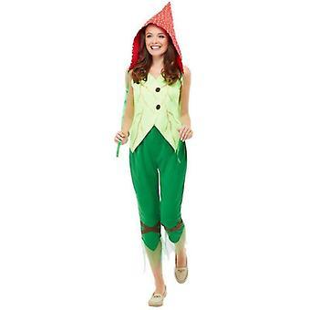 Fliegenpilz Pixie Kostüm Erwachsene grün / rot