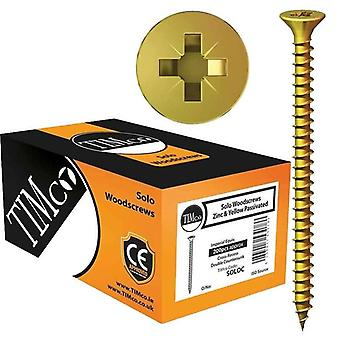 TIMco 4.0 x 25mm Solo Zinc & Yellow Woodscrew Qty 200