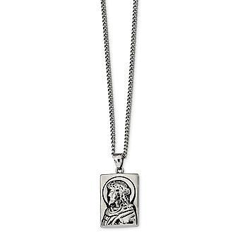 Edelstahl und poliert religiösen Glauben Inspiration Jesus Halskette 24 Zoll Schmuck Geschenke für Frauen