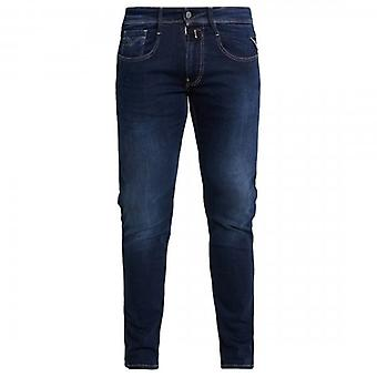 Replay Anbass Slim Fit Jeans Washed Dark Blue M914 41A 502 007