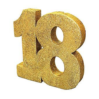 Number 18 Freestanding Gold Glitter Table Number 18th Birthday Party