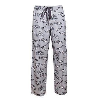 Cyberjammies 6444 Men's Jackson Grey Racing Car Print Cotton Woven Pyjama Pant