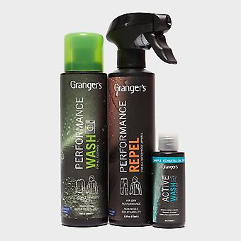 New Grangers All-in-one Outdoor Clothing Care Kit Care Kit Black