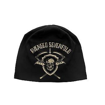 انتقم سبعة أضعاف Beanie قبعة الموت كاب درع درع شعار جيرسي الرسمية الجديدة السوداء