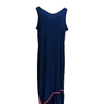 Attitudes by Renee Plus Dress Tall Como Jersey Maxi Blue A301376