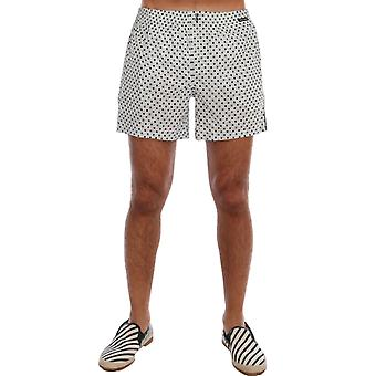 Dolce & Gabbana Light Blue Polka Dot Pajama Shorts