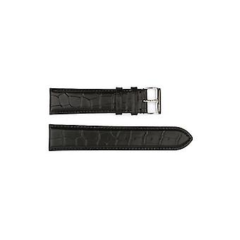 Authentic hugo boss watch strap black crocodile grain 22mm hb1351142331