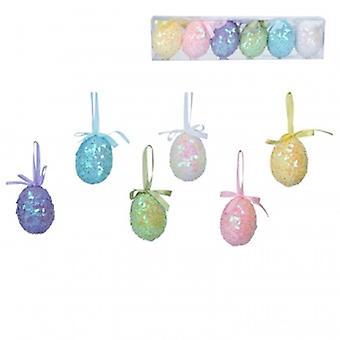 Gisela Graham Easter Sequin eggs decorations | Handpicked gifts