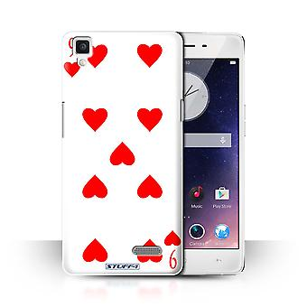 STUFF4 Case/Cover for Oppo R7/9 of Hearts/Playing Cards