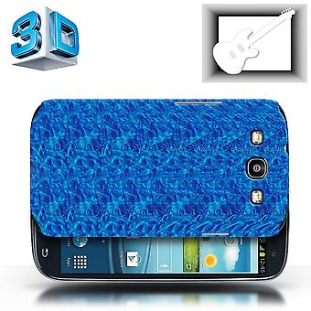 STUFF4 Case/Cover for Samsung Galaxy S3/SIII/Blue Guitar/3D Stereogram
