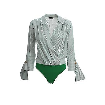 Elisabetta Franchi Cb10001e2x14 Women's Green Viscose Bodysuit