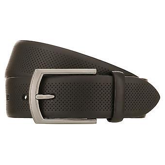 LLOYD Hombres's Cinturón Hombres Cinturón de Cuero Negro 8536