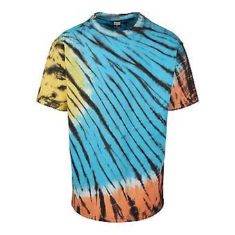 Urban Classics Men's T-Shirt Black Tie Dye Oversized