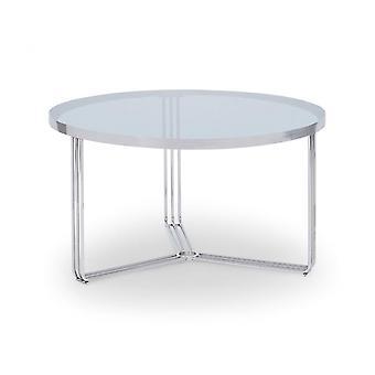 Gillmore Deco - Table basse circulaire moyenne avec divers dessus en verre et options de couleurs de cadre