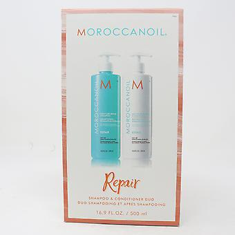 Moroccanoil Moisture Repair Shampoo & Conditioner Duo 16,9 oz/500 ml HVER, Ny i esken