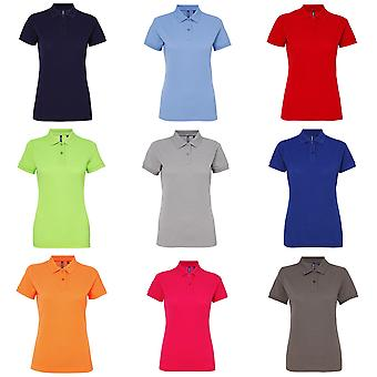 Asquith & Fox Womens/Ladies Short Sleeve Performance Blend Polo Shirt